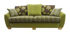 Lime green and brown 3 seater Vigo. This sofa has a matching chair and a matching swivel chair. We have over 80 fabric sample books to choose from.   http://drumbristonfurniture.ie/vigo.html