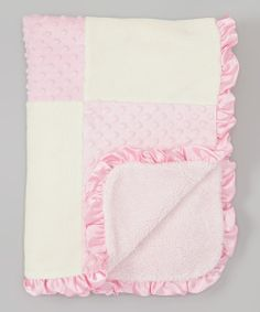 Take+a+look+at+the+SL+Fashions+30''+x+40''+Pink+&+Beige+Patchwork+Stroller+Blanket+on+#zulily+today!