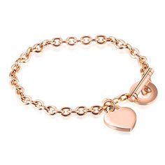 Bracelets Design, Cheap Charm Bracelets, Chain Bracelets, Link Bracelets, Bracelet Or Rose, Heart Bracelet, Wedding Bracelet, Wedding Jewelry, Gold Gold