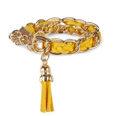 "Sole Society ""Chainlink and Tassel Bracelet"", $29.95.  SALE:  $11.98"