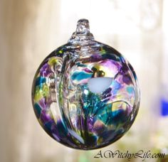 AWitchyLife.com - Witch Ball ~ Hand Blown Glass Witch Ball Orb ~ Kaleidoscope , $32.95 (http://awitchylife.com/witch-ball-hand-blown-glass-witch-ball-orb-kaleidoscope/)