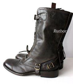 ✔ Belstaff RALLYMASTER MAN BOOT Herren Boots 42 757335 2 in 1 BLACKBROWN