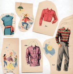Vintage Saalfield Choose Your Partners Square Dancing Paper Dolls 1950 CUT | eBay