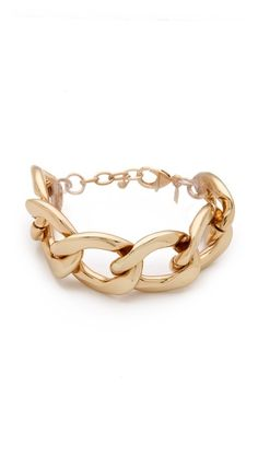 Kenneth Jay Lane Polished Lobster Claw Bracelet - I like!