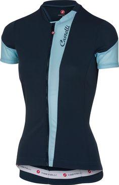 Castelli Spada Full-Zip Jersey - Women's Midnight Navy/Pale Blue, L, Size: Large, Black Mtb Accessories, Mountain Bike Accessories, Mountain Bike Shoes, Women's Cycling Jersey, Bike Wear, Going Out, Fitness, Active Wear, Mens Tops
