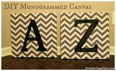 DIY Monogrammed Canvas
