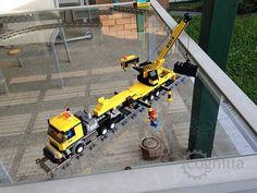 Lego road/rail maintenance truck.