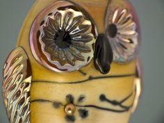 Zoe lampwork owl bead sra by DeniseAnnette on Etsy, $18.00