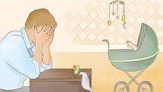 Homem também desenvolve depressão pós-parto