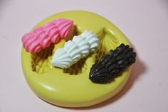 0047Cake Frosting Kawaii Silicone Rubber Flexible by MasterMolds, $6.00
