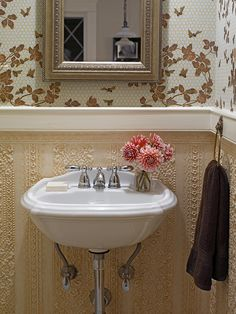 A different wallpaper but I love the detailed wainscoting
