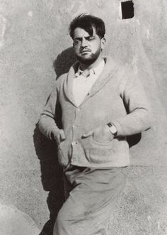 Luis Buñuel - photographed by Salvador Dalí during the writing of L'Age d'Or. 1930.