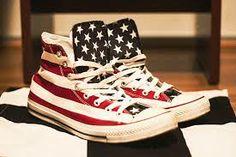 d11e7f156d7 All star estampado com a bandeira dos ESTADOS UNIDOS Bandeirinhas