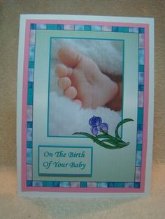 Baby s blessing on Craftsuprint designed by Gail Collins - made by beverly carmichael - Printed onto good quality card stock. Cut out . Attached main piece to pink card stock, then to a white card base. Applied diamond glaze to the flower and stem. Added sentiment using foam pads. - Now available for download!