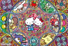 Sanrio musical stained glass ♪(*^^)o∀*∀o(^^*)♪