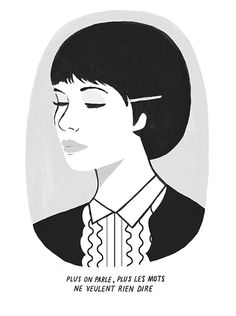 Anna Karina Print by Watersounds #illustration
