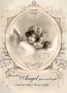 Vintage angels digital collage p1022 Free for personal  use <3