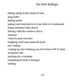 the best feelings <3