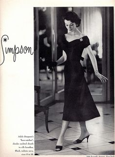 Adele Simpson 1955