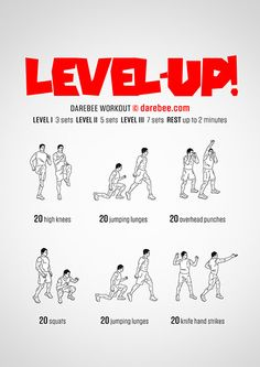 Level Up  Workout | Posted by: AdvancedWeightLossTips.com