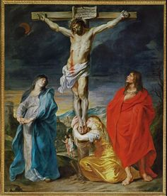 """""""Christ Crucified with the Virgin, Saint John, and Mary Magdalene,"""" by Sir Anthony van Dyck, c. 1628-30"""