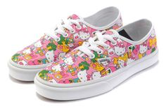 0642ca4b9df429 Vans shoes X Hello Kitty Vans Canvas shoes-Pink and white color