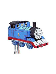Thomas and friends pinata. See more party ideas at BirthdayInaBox.com