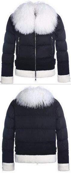 Lamb-Fur Puffer Down Jacket