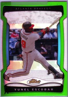 2009-Topps-Finest-Yunel-Escobar-Green-Refractor-61-99