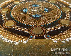 abstract dot art painting MONEY FLOW NO6 Tessa Smits detail