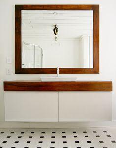 IKEA hack: add wood countertop to GODMORGEN bathroom cabinet