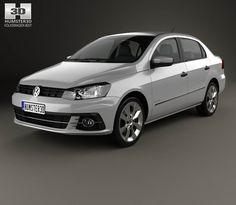 Volkswagen Voyage 2016 3d model form Hum3d.com.