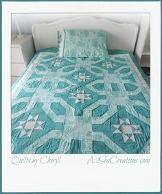 SeasideInspired Quilted Bed Topper or Lap Quilt by A2SeaCreations on Etsy