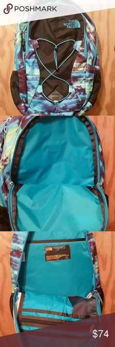 NWT the North Face Jester Backpack New with tags!  The North Face Jester Backpack  Mostly black with very cool blueish print The North Face Bags Backpacks