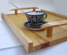 Items similar to Wood Serving Tray, Ottoman Tray, Rustic Wooden Tray,  Breakfast Tray, Farmhouse  Home Decor on Etsy