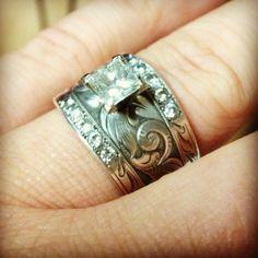 i love my ring by travis stringer wade did a great job western wedding - Western Wedding Rings