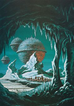 Return of the Colonies by David A Hardy (1981)