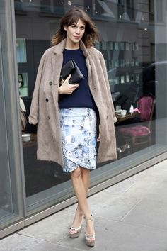Where London Fashion Week 2012 Wearing Christopher Kane skirt, Mulberry jacket and Mulberry bag - HarpersBAZAAR.co.uk