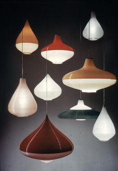 1955_ Pendant light designed by Bernard Stern for Rotaflex