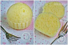 Mushi pan (蒸しパン), a Japanese steamed cupcake || less sweet version of traditional Chinese steam egg/sponge cake 杯子蒸面包