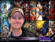 Welcome #comicbook artist Jamie Tyndall to #FanX! Best known for his strong female super heroines!