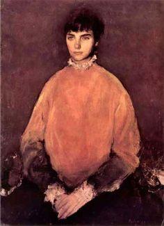 Корнелиу Баба -  Potrait of a Girl   - Открыть в полный размер