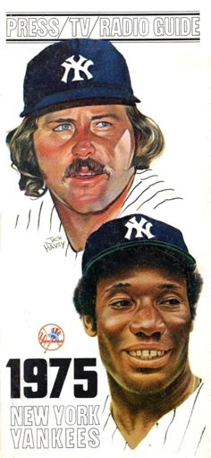 1975 Yankees Catfish Hunter and Barry Bonds by Jack Havey
