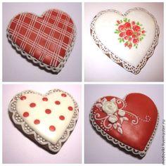 Купить Расписной пряник Сердце - расписной пряник, имбирное печенье, подарок влюбленным, 14 февраля