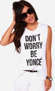 New BEYONCE shirt Stylish sleeveless letter print cotton Tops Muscle Tees Rock Girls, Top Pas Cher, Harajuku, T Shirt Top, Lany, Printed Tank Tops, Crop Tops, Women's Tops, Muscle Tees
