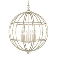 View the Capital Lighting 311861 6 Light 1 Tier Chandelier at…