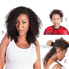 "#ONYCHair #FlashbackFriday to one of our favorite transformations with #ONYC Kinky Curly 3B-3C clip-ins #hair.  Get your quick ""do"" today!  Shop US Now >>> ONYCHair.com Shop UK Now >>> ONYCHair.uk Shop NG Now>>> ONYCHair.ng"