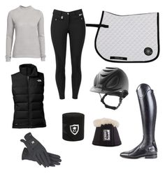 """""""Greyscale Schooling Outfit"""" by victoriahegdal on Polyvore featuring The North Face and VILA"""
