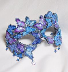 Hey, I found this really awesome Etsy listing at https://www.etsy.com/listing/293164791/butterfly-masquerade-mask-blue-and