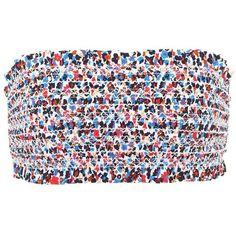 Tory Burch Costa Bandeau Bikini Top (195 AUD) ❤ liked on Polyvore featuring swimwear, bikinis, bikini tops, multicoloured, tory burch, bandeau top, swimsuit tops, swim suit tops and bandeau top bikini